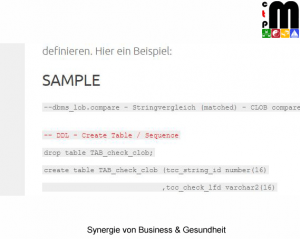 Testdatenmanagement - DML Sample » ctpm.de 2017