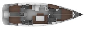 Layout der Charteryacht · Skippertraining & Ausbildungsyacht