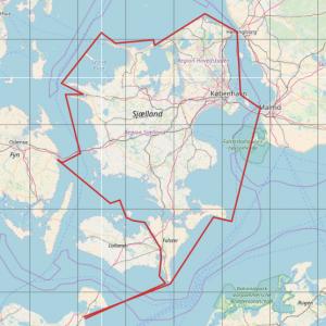 Rund Seeland segeln- Seekarte von Seeland inkl. Routenvorschlag