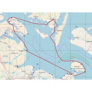 mehrtägiges Segeln - Seekarte westliche Ostsee mit Segelroute rund Als