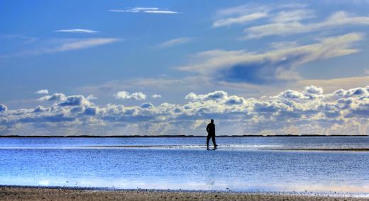 gesund atmen - ruhige See mit Blick in die Ferne