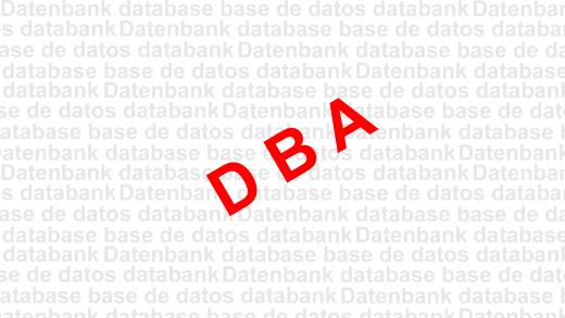 DBA Oracle Datenbankadministration Grafik