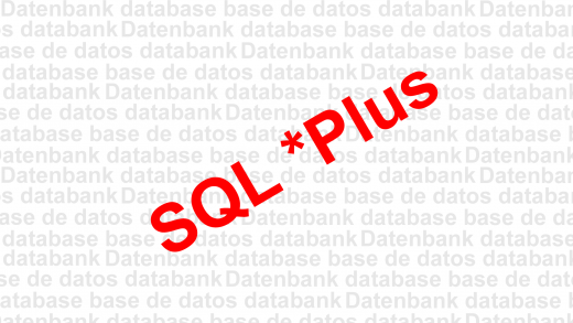 SQL Plus Oracle Benutzerschnittstelle Grafik